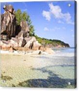 Seychelles Rocks Acrylic Print