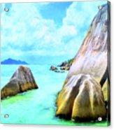 Seychelles Shallows Acrylic Print