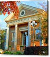 Seymour Public Library Acrylic Print