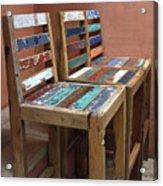 Shabby Chic Chairs Acrylic Print