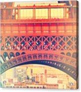 Shabby Chic Eiffel Tower Paris Acrylic Print