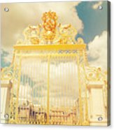 Shabby Chic Gold Gate Versailles Acrylic Print