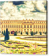 Shabby Chic Hdr Panorama Versailles Paris Acrylic Print