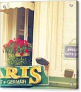 Shabby Chic Paris Saint Germain Acrylic Print