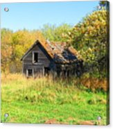 Shack In Fall Colours Acrylic Print