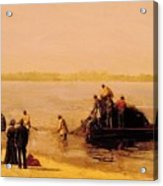 Shad Fishing At Gloucester On The Delaware River 1881 Acrylic Print