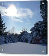 Shades Of Blue In Winter Acrylic Print
