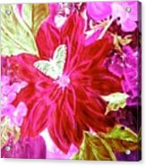 Shades Of Pink Flowers Acrylic Print