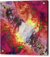 Shades Of Red Abstract Acrylic Print