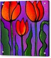 Shades Of Tulips Acrylic Print