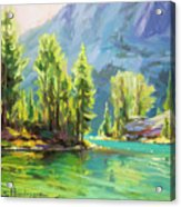 Shades Of Turquoise Acrylic Print