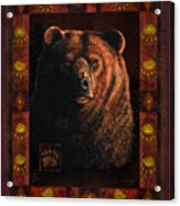 Shadow Grizzly Acrylic Print by JQ Licensing