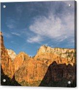 Shadow Mountain Zion National Park Utah Acrylic Print