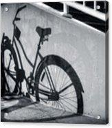 Shadow Of A Bike At Carolina Beach Acrylic Print