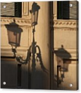 Shadow Of A Lamp Post In Venice Acrylic Print
