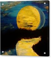 Shadows In The Moon Acrylic Print by Marie Bulger