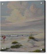 Shadows In The Sand Dunes Acrylic Print