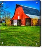 Shadows On The Barn Tennessee Farm Art Acrylic Print