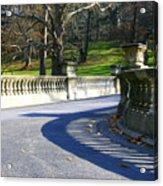 Shadows On The Bridge Acrylic Print