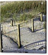 Shadows On The Dune Acrylic Print