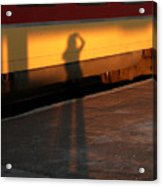 Shadows On The Platform 2 Acrylic Print