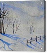 Shadows On The Snow Acrylic Print
