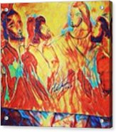 Shadrach, Meshach And Abednego In The Fire With Jesus Acrylic Print