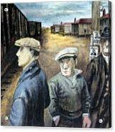 Shahn: Three Men Acrylic Print