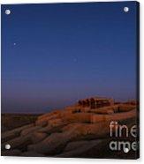 Shahr-e Sukhteh, Iran, At Twilight Acrylic Print