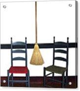Shaker Chairs And Broom Acrylic Print