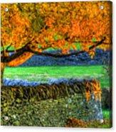 Shaker Stone Fence 1 Acrylic Print