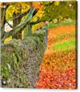 Shaker Stone Fence 3 Acrylic Print