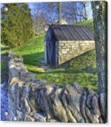 Shaker Stone Fence 6 Acrylic Print