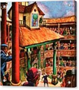 Shakespeare Performing At The Globe Theater Acrylic Print