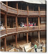 Shakespeare's Globe Theater C378 Acrylic Print by Charles  Ridgway