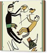 Shaman Hunting Ritual Dream Acrylic Print