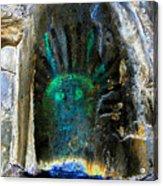 Shamans Head Acrylic Print
