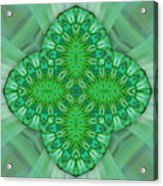 Shamrock In Abstract Acrylic Print