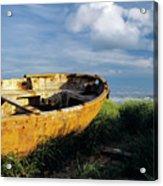 Shanghai Boat On Beach Acrylic Print