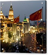 Shanghai Bund At Night Acrylic Print