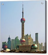Shanghai Pudong - Today Denser Than Yesterday But Less Than Tomorrow Acrylic Print