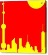 Shanghai Sunshine Acrylic Print