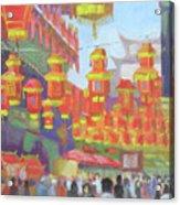 Shanghi Lanterns II Acrylic Print