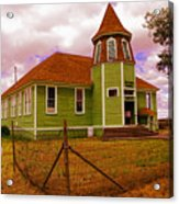 Shaniko School District Sixty Seven Acrylic Print