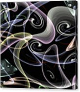 Shapes Of Fluidity Acrylic Print