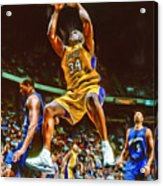 Shaquille O'neal Los Angeles Lakers Oil Art Acrylic Print