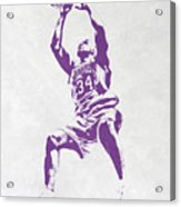 Shaquille O'neal Los Angeles Lakers Pixel Art Acrylic Print