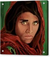 Sharbat Gula From Nat Geo Mccurry 1985 Acrylic Print