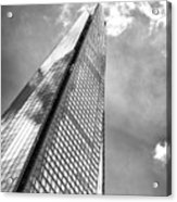 Shard, London In Black And White  Acrylic Print