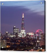 Shard Oxo Tower London Eye Walkie Talkie From Balfron Tower Acrylic Print
